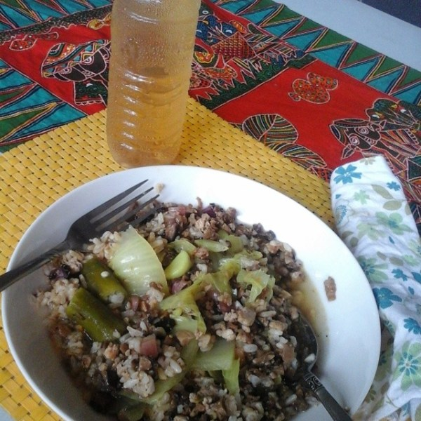 Mushroom Sisig with Garlic Brown Rice 1st day