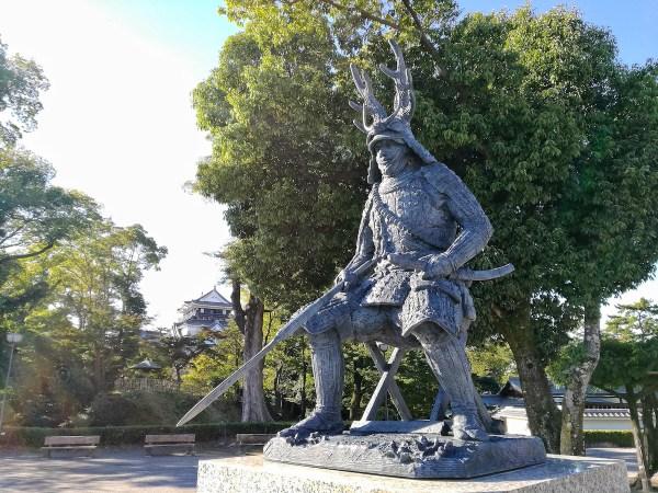 Statue of Honda Tadakatsu inside Okazaki Park