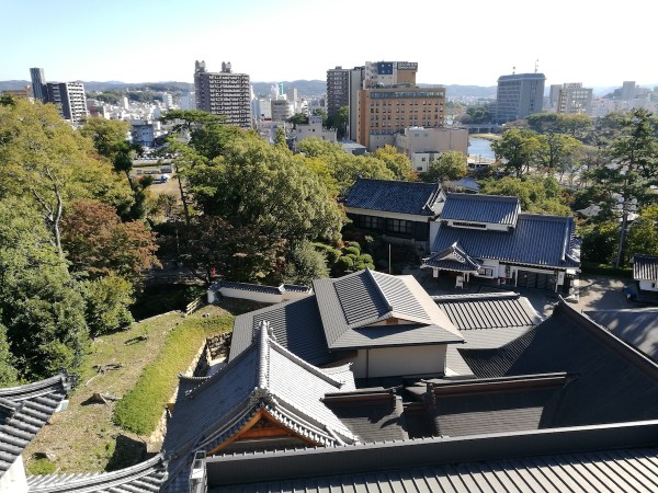 View from the top of Okazaki Castle