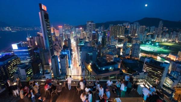 Wooloomooloo Rooftop Bar in Hong Kong