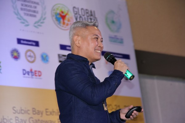 """Eric Zerrudo, Director of the University of Santo Tomas Graduate School, Conservation of Cultural Property and Environment in the Tropics, flashes a big smile as he speaks about heritage tourism and sustainability. He was the keynote speaker in the first GYF 2017 session entitled, """"Heritage Tourism: Building a Strong Foundation Through Cultural Preservation."""""""