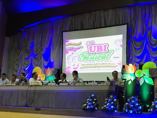 Province of Bohol Officials and Ubi Festival 2017 Guests