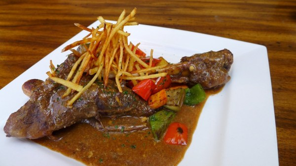Slow Braised Lamb Shank served with Rosemary Potatoes