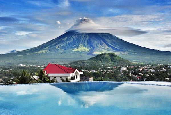 The Oriental Hotel Infinity Pool in Legazpi City