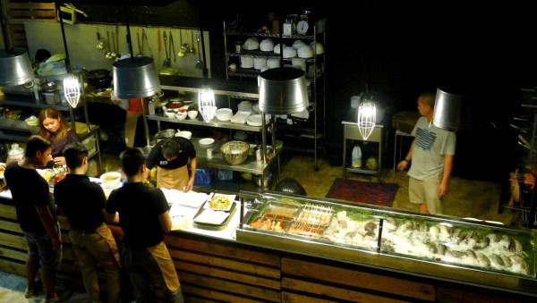 Turo-turo counter and kitchen