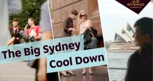 Etihad Airways' Cabin Crew help Sydneysiders beat the heat
