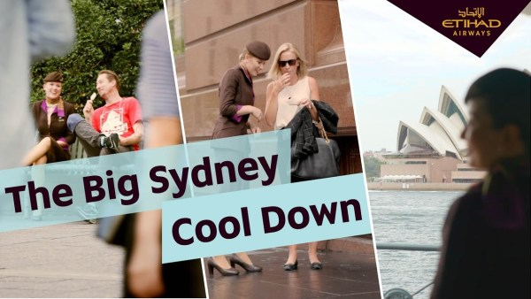 Etihad Airways' Cabin Crew help Sydneysiders beat the heat
