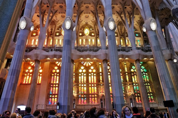Colorful Stained Glass inside the Basilica