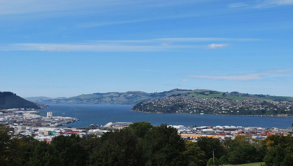Dunedin seen from Unity Park lookout in the suburb of Mornington