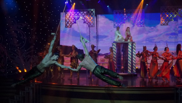Entertainers onboard at Star Cruises