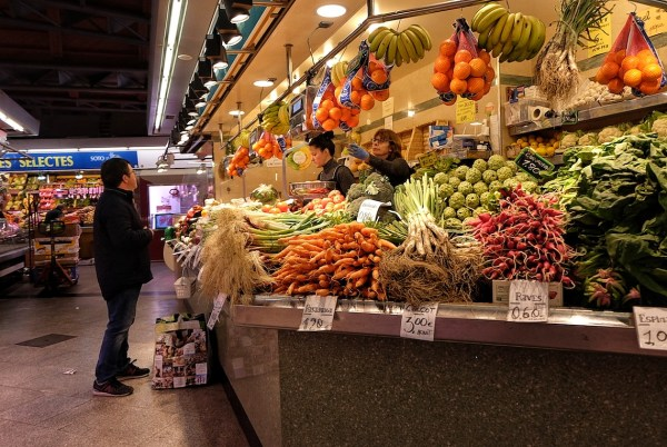 Fresh Fruits and Vegetables inside Santa Caterina Food Market