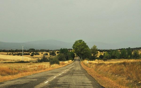 Hilly road somewhere around Villadonga.