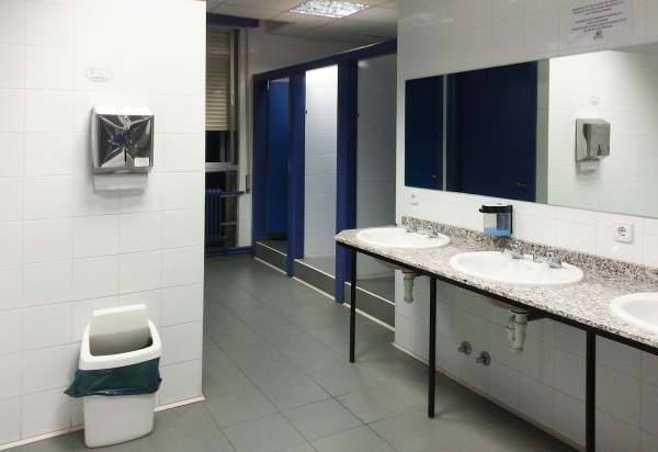 Most of the albergues have common toilet facilities like this and they all are spotlessly clean.