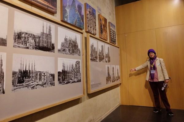Our tour guide Maria inside La Sagrada Familia Mini Museum