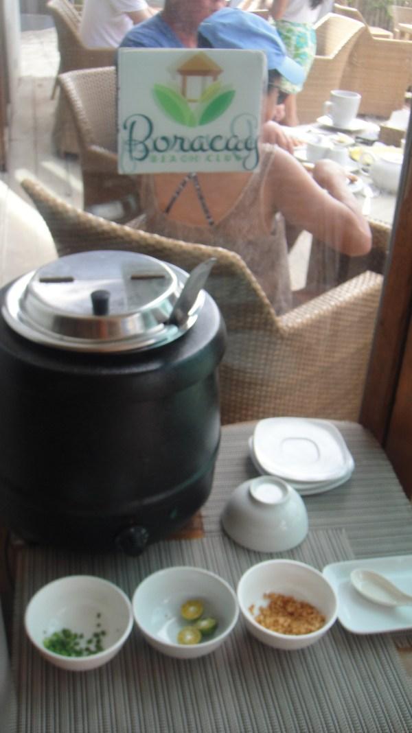 Rice porridge all you want for breakfast