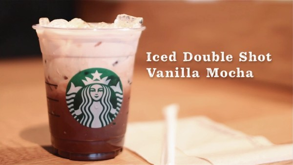 Starbucks Iced double shot Vanilla Mocha