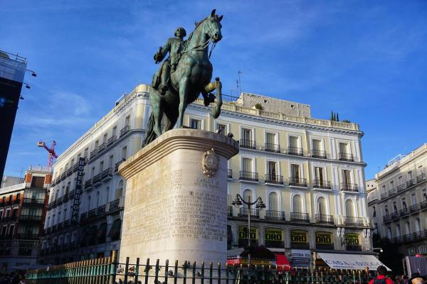 Statue of King Carlos III at Puerta del Sol photo by Mark Angelo Acosta