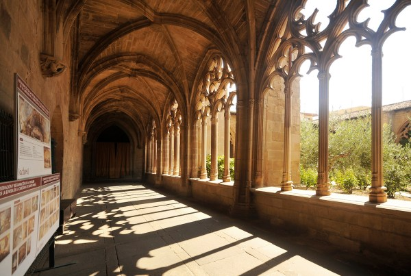 The beautiful cloister of the church in Los Arcos.