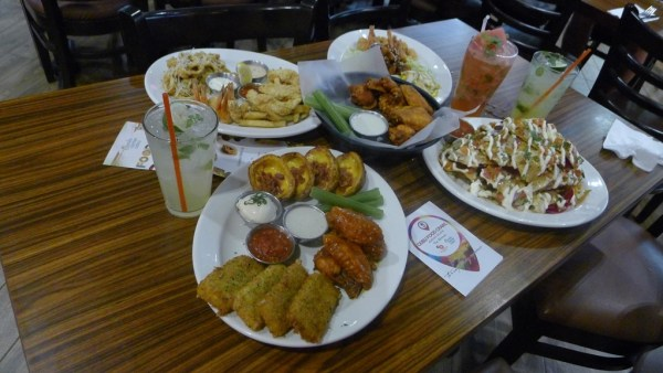 Appetizers at TGI Fridays in Ayala Terraces