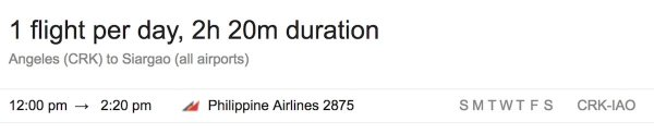 Clark to Siargao Direct Flights