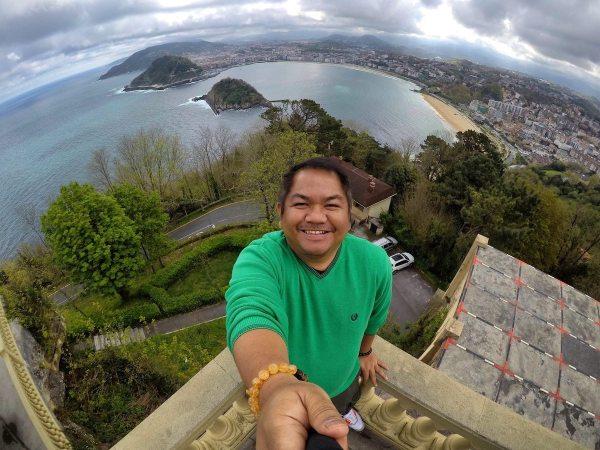 GoPro Selfie at Mt Igeldo