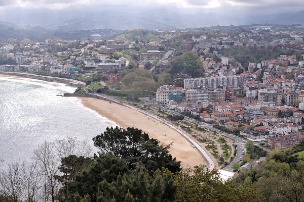 La Concha Bay in San Sebastian Spain