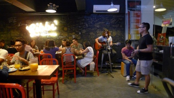 Live acoustic at Gibb's Hot Wings