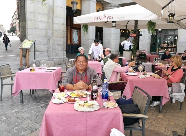Lunch in Los Galayos Restaurant in Madrid