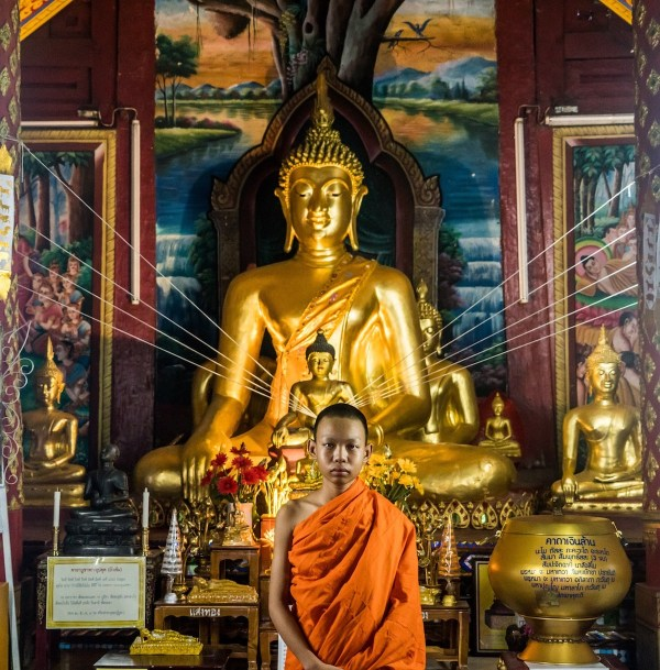 Monk inside a temple - Best of Chiang Mai