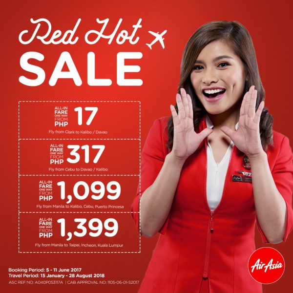 AirAsia's Red Hot Seat Sale 2017