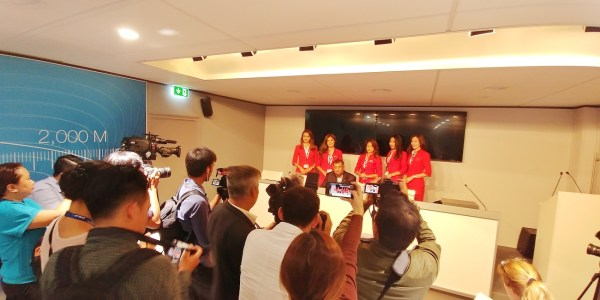 AirAsia Presscon with Tony Fernandez held at the Airbus Pavilion