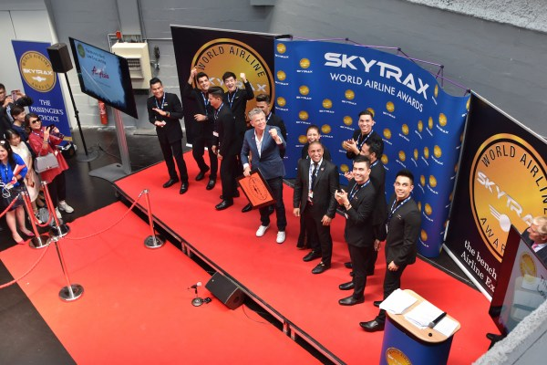David Foster and Roberto Carlos at the 2017 Skytrax World Airline Awards