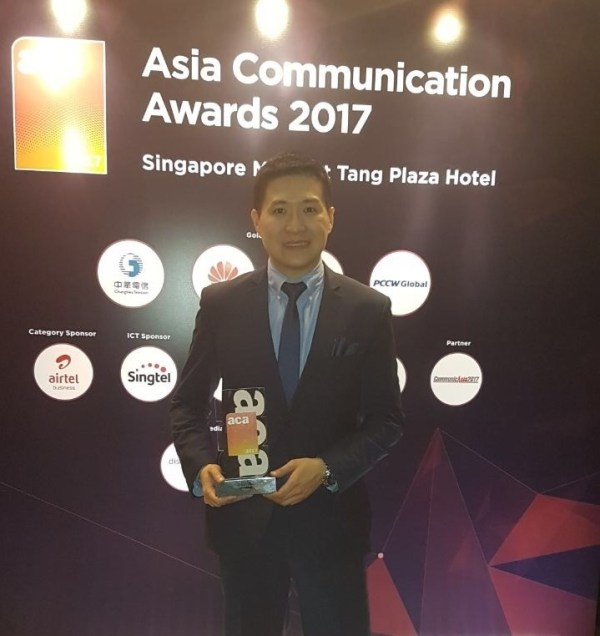 James Melon at Asia Communication Awards 2017
