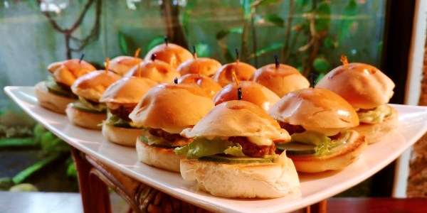 Mini Burgers at Breakfast Buffet
