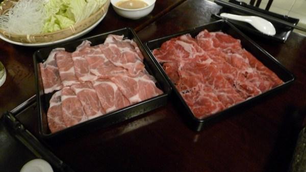 Pork and Beef Shabu-Shabu Set