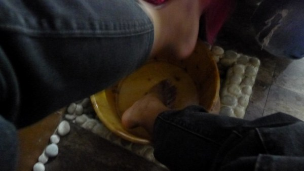 Rinsing of the feet