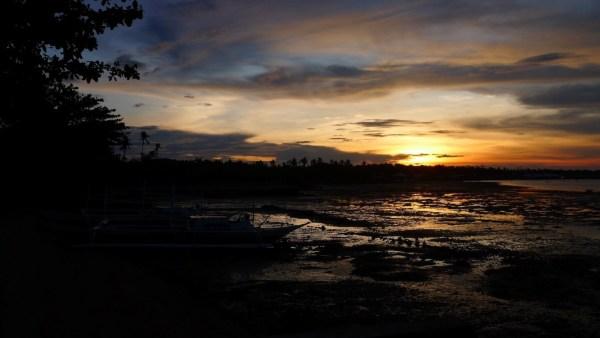 Sunset at Hagnaya Beach Resort in San Remigio