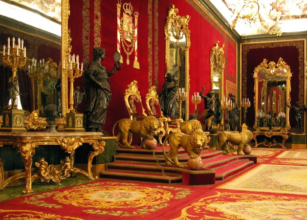 The Throne Room - one of the most opulent rooms inside Palacio Real.