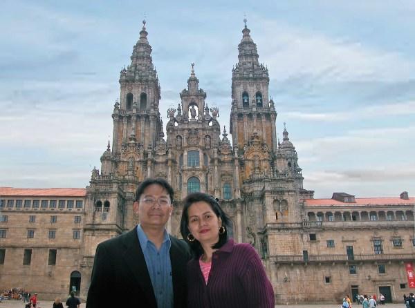 The Baroque facade of Santiago de Compostela.