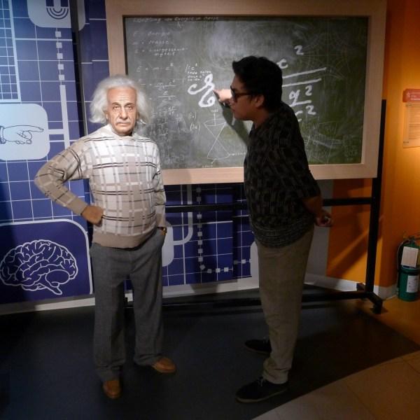 Albert Einstein at Madame Tussaud's Bangkok