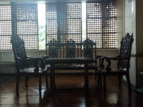 Antique sala set in Agoncillo Ancestral House
