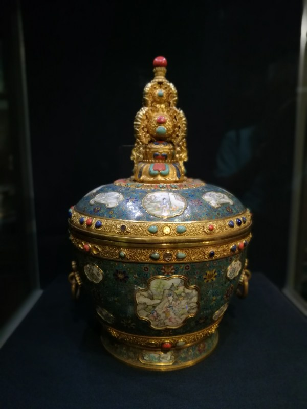 Chinese Jar Inside Museum in Taipei Taiwan