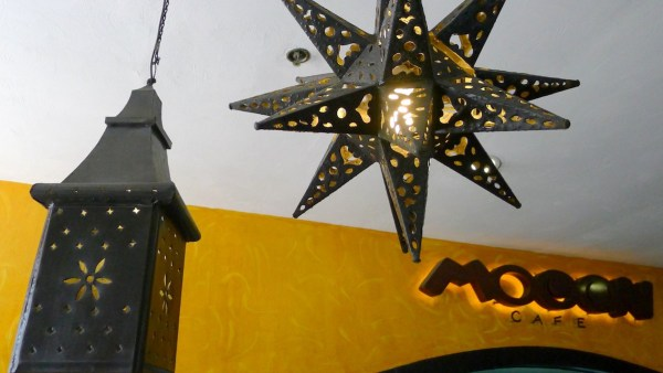 Decorative lamps at Mooon Cafe Cebu