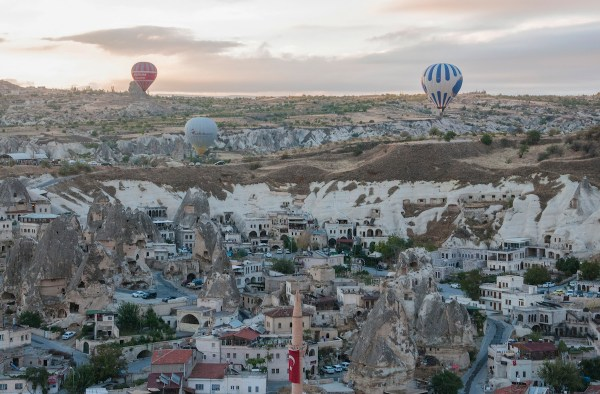 High above the town of Goreme