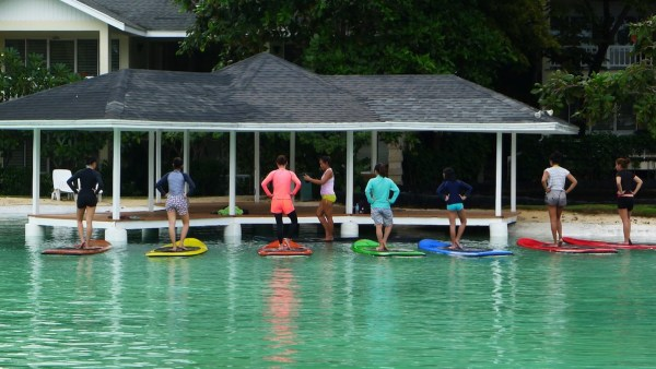 Paddle Board Yoga at Plantation Bay