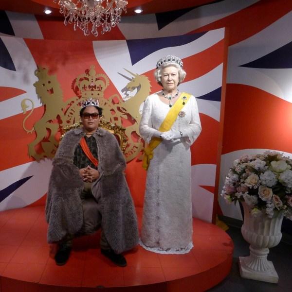 Queen Elizabeth at Madame Tussaud's Bangkok