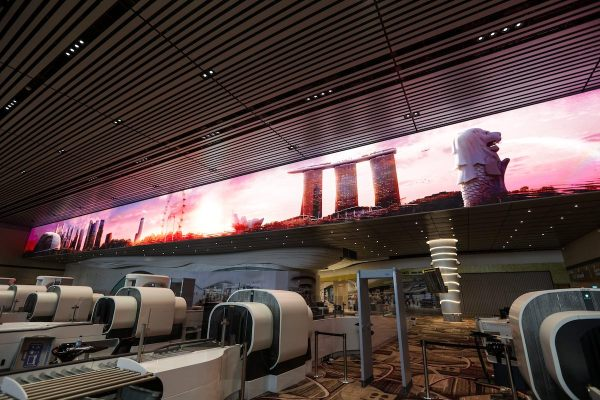 Terminal 4 Immersive Wall