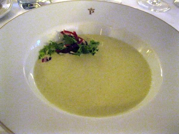 asparagus soup course