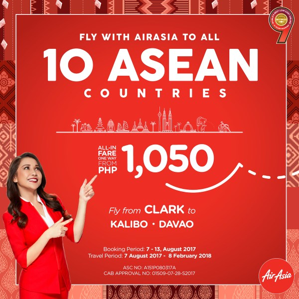 ASEAN Low Fares from as low as P1050