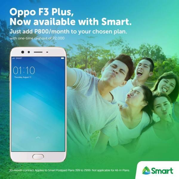 OPPO F3 Plus Smart Postpaid Plans